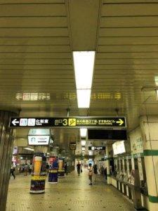 南北線すすきの駅改札